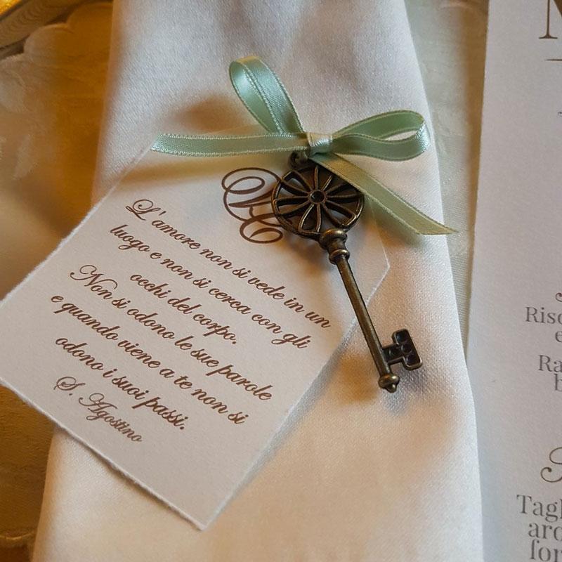 Segnaposto Matrimonio Cartoncino.Segnaposto Con Chiave In Carta Amalfi Fm Wedding Day Monza